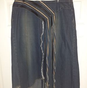 Womens plus size denim skirt size18